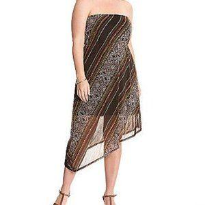 Lane Bryant Printed Asymmetric Tube Dress
